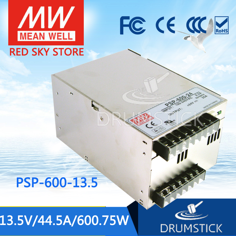 best-selling MEAN WELL PSP-600-13.5 13.5V 44.5A meanwell PSP-600 13.5V 600.75W with PFC and Parallel Function Power Supply 1mean well original psp 600 12 12v 50a meanwell psp 600 12v 600w with pfc and parallel function power supply