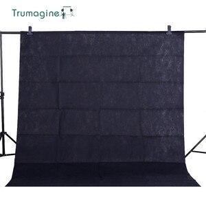 Фон для фотосъемки с черным экраном 1,6x, 2 м/5,2x6,5фт, Chroma key, фон для фотостудии из нетканого материала