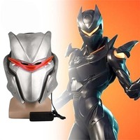 Game FortniteD Costume Oblivion Omega Cosplay Mask With LED Light Drift Latex Helmet Full Face Halloween Party Headwear Props