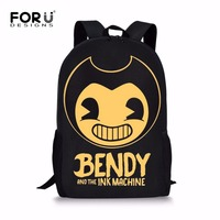 FORUDESIGNS Bendy And The Ink Machine Children School Bags Game Backpack Student School Bag Book Backpack