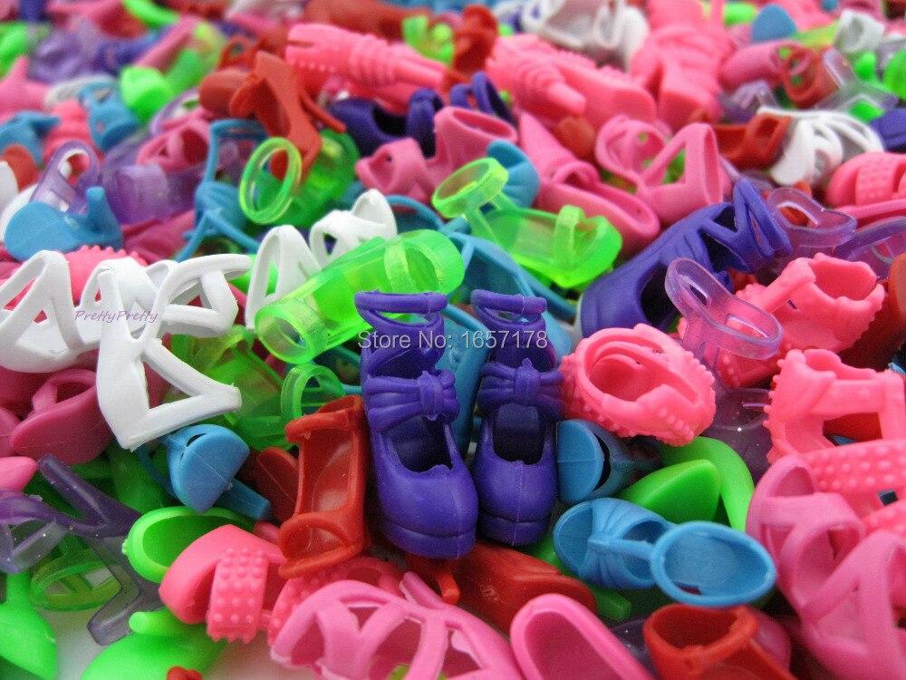 Veleprodaja 1 Lot = 100 Pari Moda Šarene cipele za lutke Mješoviti - Lutke i pribor - Foto 2