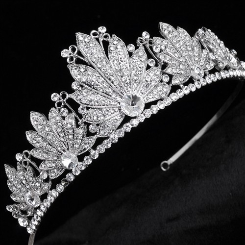 Brida Tiara Rhinestone Crystal Hair Crown Vintage Wedding Head Jewelry Wedding Accessories jewelry forehead headbands Frontlet