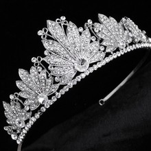 Brida Tiara Rhinestone Crystal Hair Crown Vintage Wedding Head Jewelry Wedding Accessories jewelry forehead headbands Frontlet