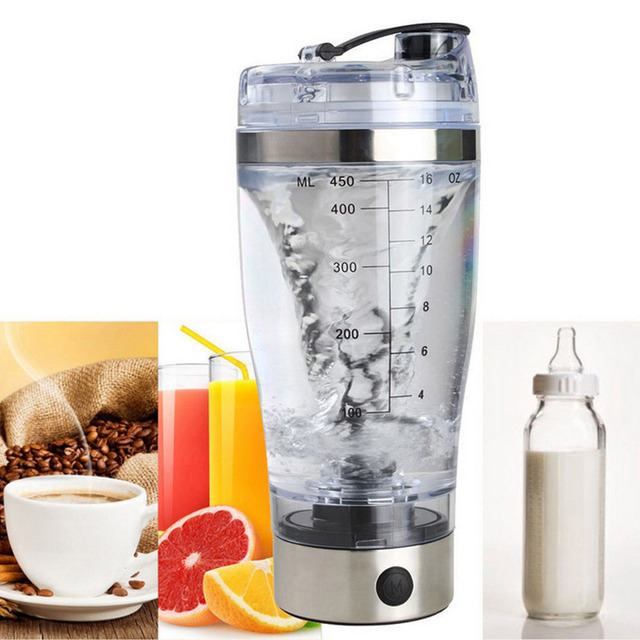 Behogar 450ml Outdoor Travel Portable Battery-Powered Electric Protein Shaker 1