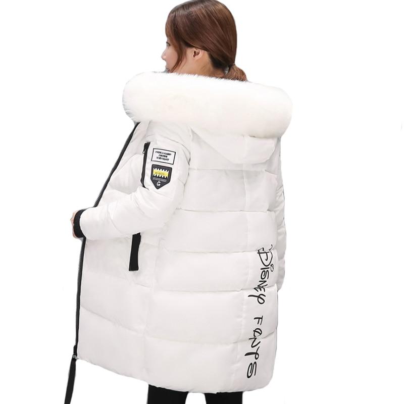 Padded 2019 fur collar women winter jacket warm thicken long women coat outerwear for women   parka