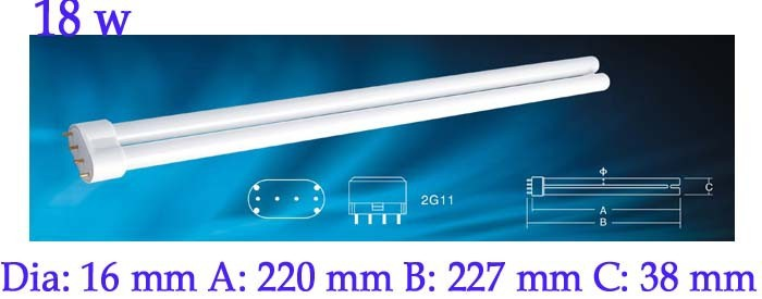uv H-shape 254nm lamp 18w