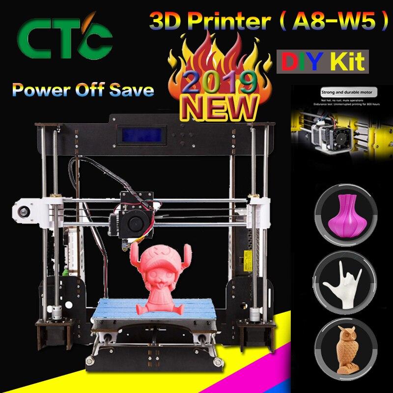 CTC A8 3D DIY Impressora De Alta Precisão Desktop i3 Prusa DIY Impressora Da Tela De LCD Assembléia Auto Apoio