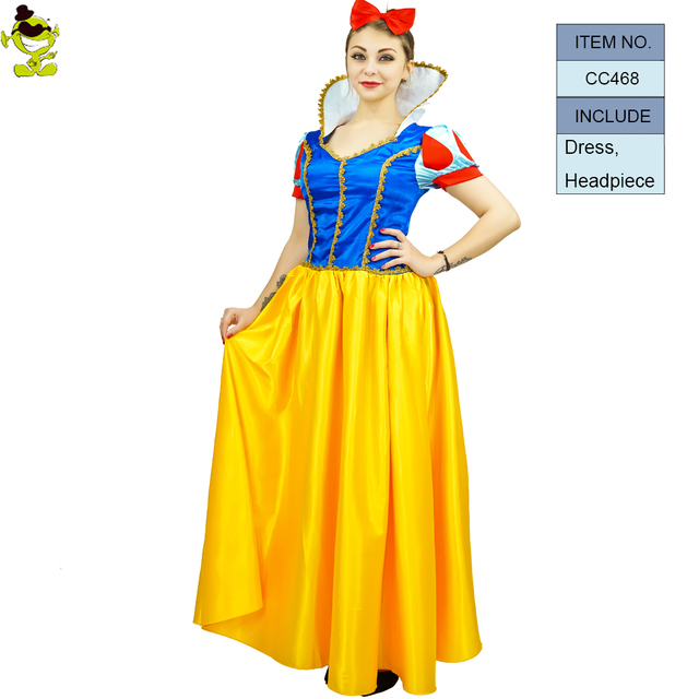 Adult Party SnowWhite Princess Dresses Sexy Lady Halloween  Christmas Women Cosplay Dresses Costume Clothing