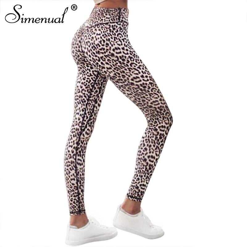 Simenual Harajuku hohe taille leopard leggings frauen sportswear fitness kleidung 2018 freizeitsport sexy legging active hosen