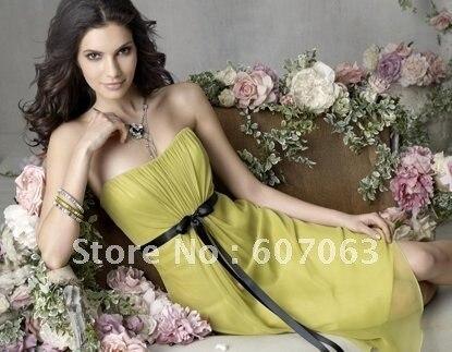 Free shipping(10pcs) NEW Chiffon & soft satin wholesale & retail Elegant cocktail dress