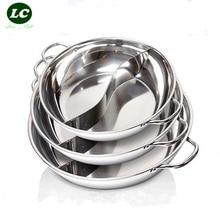 FREE SHIPPING cooking pot CASSEROLE UTENSIL 26-36cm inox hot pot 2grid soup stainless steel fondue pot soup pot cookware