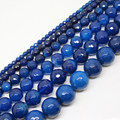 "Faceted Blue Agate 4,6,8,10,12,14mm Round Loose Beads 15""/38cm,Min.order is $10, we provide mixed wholesale for all items !"