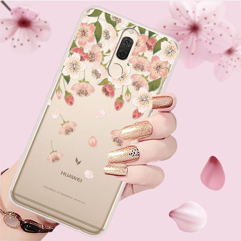 , 5.9 inch 3D Relief Phone Case Cover For Huawei Nova 2i Floral Cartoon Lace Soft TPU Covers Case For Huawei Nova 2i Coque Fundas