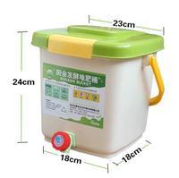 12L BOKASHI bucket home use KOKASHI barrel for food waste fermentation for organic manure garden use