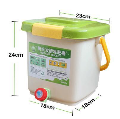Baril de KOKASHI d'utilisation à la maison de seau de 12L BOKASHI pour la fermentation de déchets alimentaires pour l'usage organique de jardin de fumier