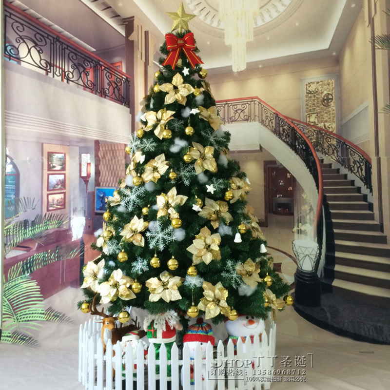 New 1 5 meters 1 8 meters christmas tree christmas Large decorated christmas trees