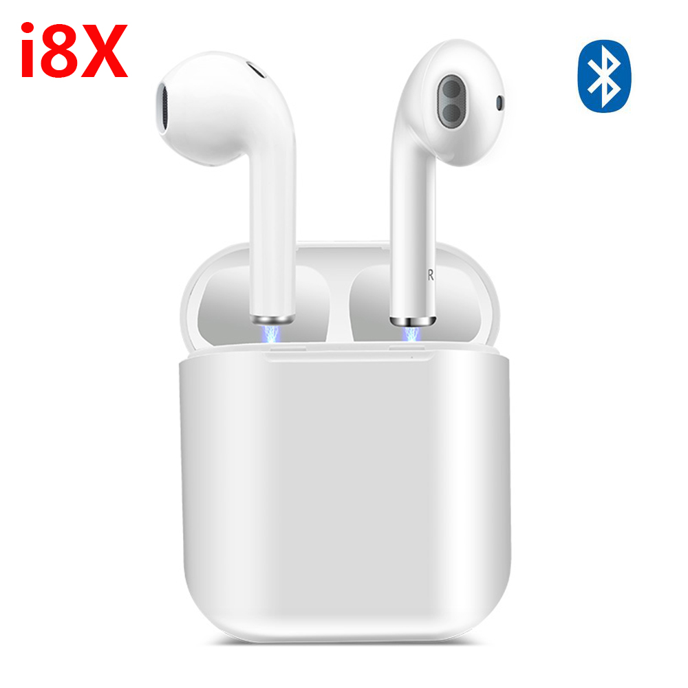 i8x TWS Mini Wireless Bluetooth Earphone Stereo Earbuds Headphone Magnetic Box Headset Car call for iphone Xiaomi Huawei Samsung syllable d700 bluetooth 4 1 earphone sport wireless hifi headset music stereo headphone for iphone samsung xiaomi no box