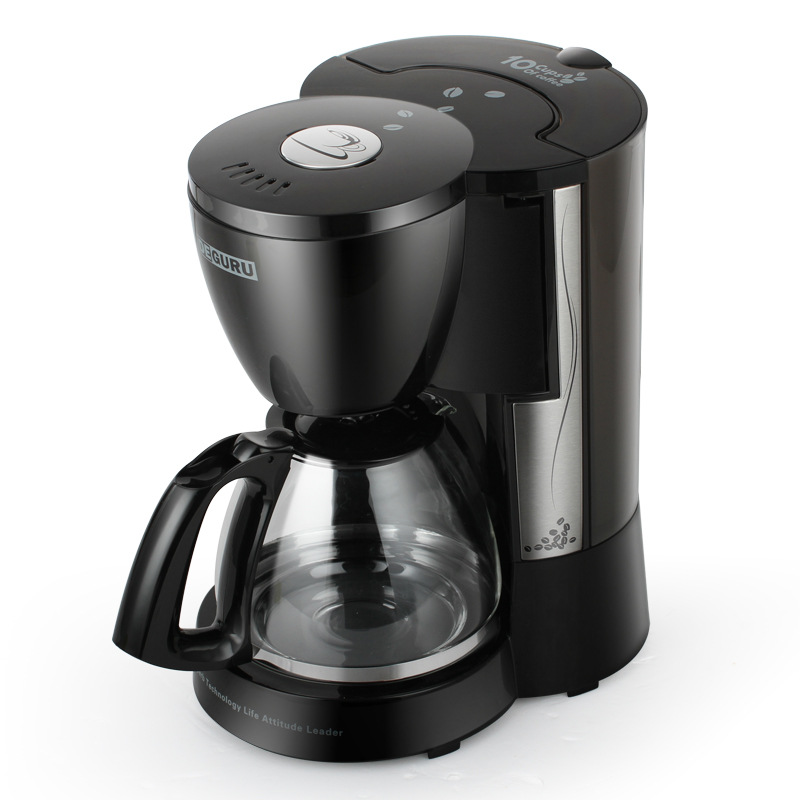 DCM203 Home/Office American Coffee Machine 10 Cups Drip Type Coffee Maker Small Coffee/ Tea Making Machine 220V coffee maker uses the american drizzle to make tea drinking machine