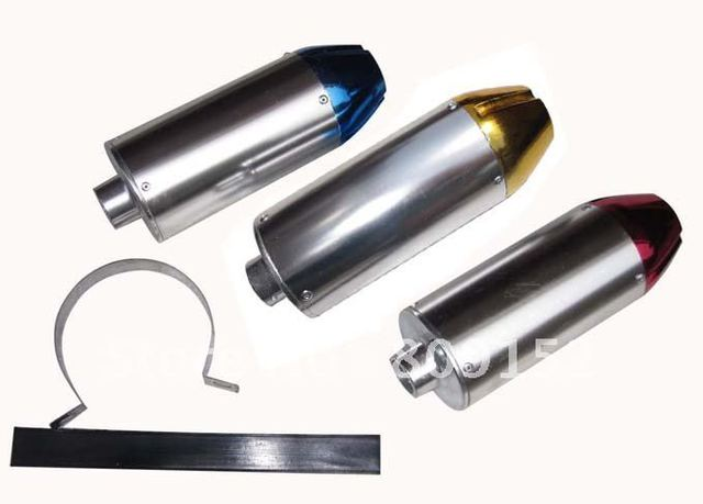 dirt bike high performance alloy exhaust muffler 30mm connection!