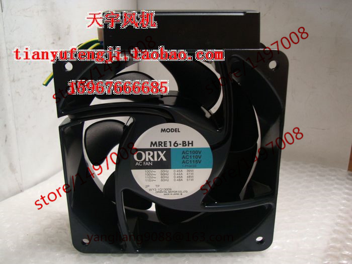 ORIX MRE16-BH AC 100V 0.45A 2-wire 160x160x62mm Server Square Cooling Fan