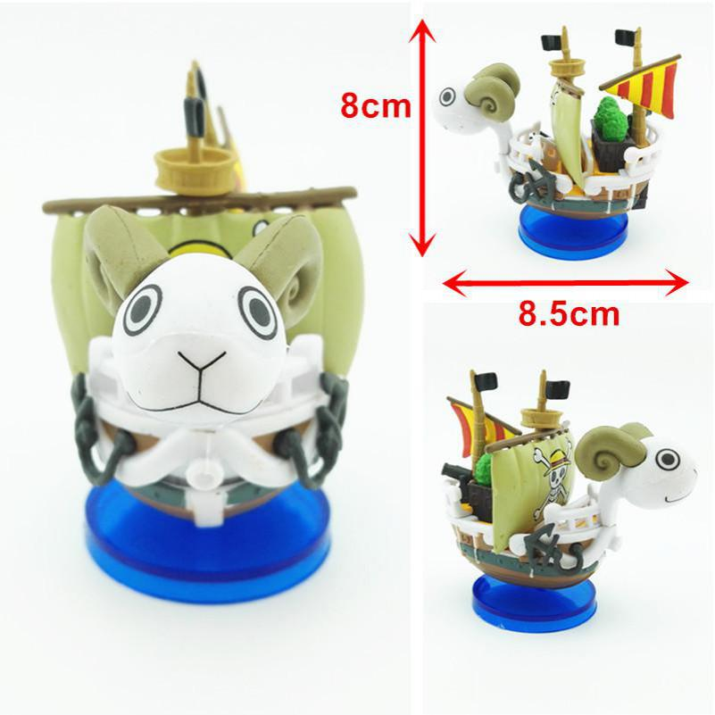 New PVC Japanese ONE PIECE Cartoon Boat Aquarium Decoration Fish Tank Ship Ornament Merry Sunny Marine Figure Aquatic Decor