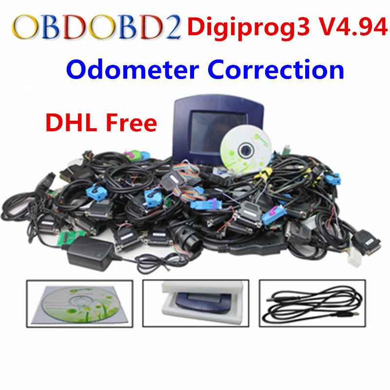 Newest Digiprog III V4.94 Digiprog3 Odometer Correction Tool Digiprog 3 Mileage Programmer Full Set With ST01 ST04 Cable hot sale original professional st60 w211 and w203 cluster diagnostic cable for digiprog iii