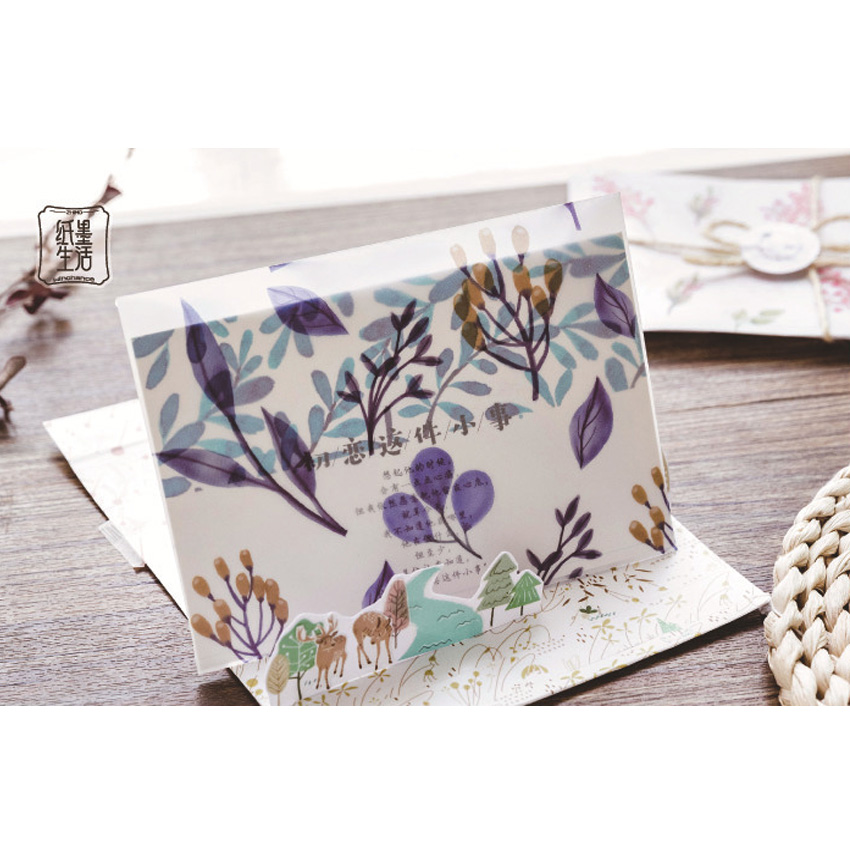 20packs lot The Dream Four Seasons Sulfuric Acid Paper Retro Watercolor Oil Painting Handmade Envelope Four Selection in Paper Envelopes from Office School Supplies