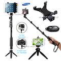 Cámara bluetooth remoto + soporte de tabletas + autofoto palillo de trípode monopod para iphone 6 s plus se 5c para ipad cámara gopro