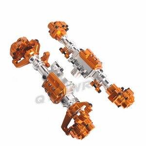 Image 5 - QYWWRC TRX4 алюминиевый корпус передней и задней портальной оси для 1/10 RC Crawler Car Traxxas TRX 4, детали для обновления оси