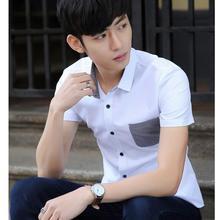 Summer The New Men's Fashion Design Classic Leisure Brand Temperament Designer Shirts For Men With Short Sleeves White Shirt Men