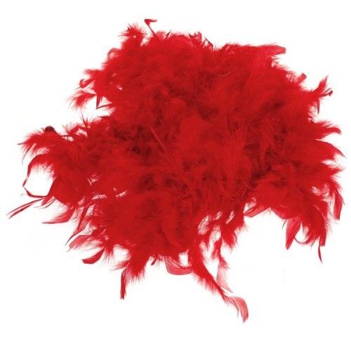 EYFL Boa de Plume Pelucheux Decoration Artisanale 6,6 Pieds de Long - Rouge