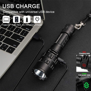 Image 4 - Hunting Flashlight Professional Tactical LED Flashlight USB Rechargeable Waterproof Torch Red/Green/ White L2 Scout Light