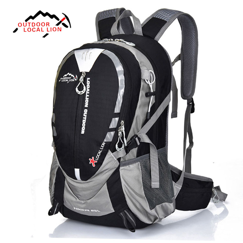 LOCAL LION 25L Climbing Backpack Quality Waterproof Nylon Hiking Backpack Outdoor Sports Bag Rucksack Men Travel Bags Back Pack new products 2016 black laptop camera back pack bag waterproof travel hiking camera backpack bags cd50