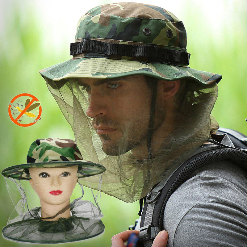 Able Bee Hat Beekeeping Camouflage Net Head Face Protector Cap Insect Outdoor Camping Garden Supplies Home & Garden