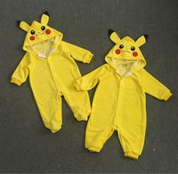 Pokemon Go Toddler Infant Baby Boy Girl Pikachu Outfit Jumpsuit Romper Cosplay Costumes