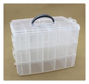 Image 2 - 3 طبقات 30 شبكة صندوق تخزين قابل للإزالة في صندوق تخزين مغطى الملك الجوارب لعبة ليغو صندوق تخزين من البلاستيك