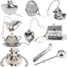 Heart/House/Duck Shape Stainless Steel Infuser Filter Strainer Tea Ball Spoon E2shopping цена в Москве и Питере