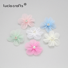 Garment Headwear Flower Hairpins Sewing-Accessory Snow-Yarn DIY Lucia Crafts 50mm