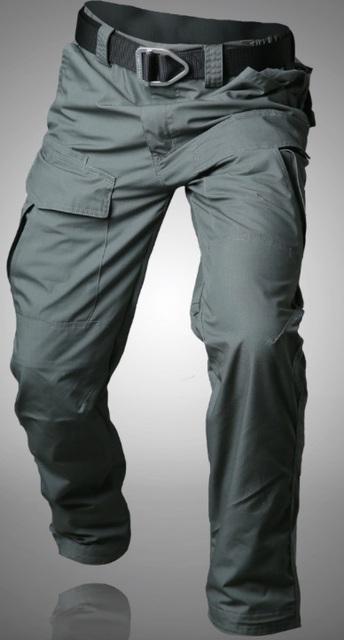 Workpants Waterproof Tactical Cargo Pants Mens Loose Fit Cotton Casual Military Army Cargo Camo Combat Work Pants Belt excluded 1