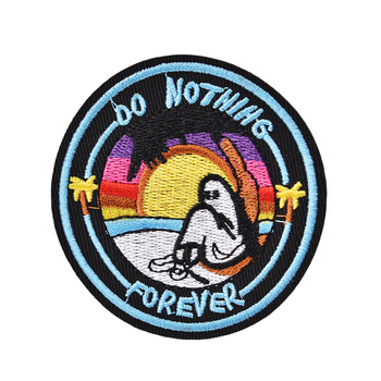 Do Nothing Forever Iron On Embroidered Clothes Garment Apparel Accessories For Clothing Stickers image