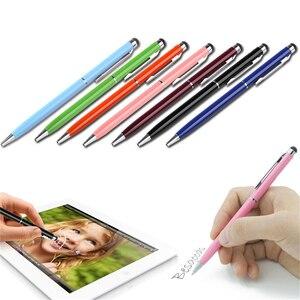2 en 1 écran tactile stylet stylo à bille Fine pointe stylet capacitif tactile microfibre pour Ipad pour Iphone plus récent et vente chaude