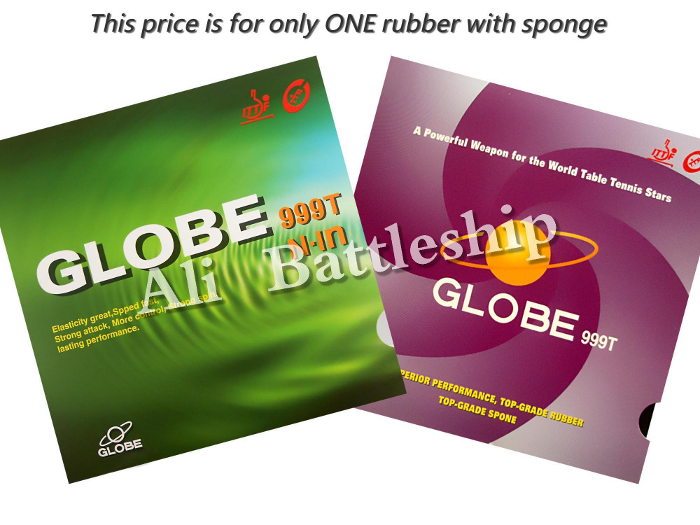 Original Globe 999T (999 T, 999-T) Pips-in Table Tennis / Pingpong Rubber With Japanese Sponge
