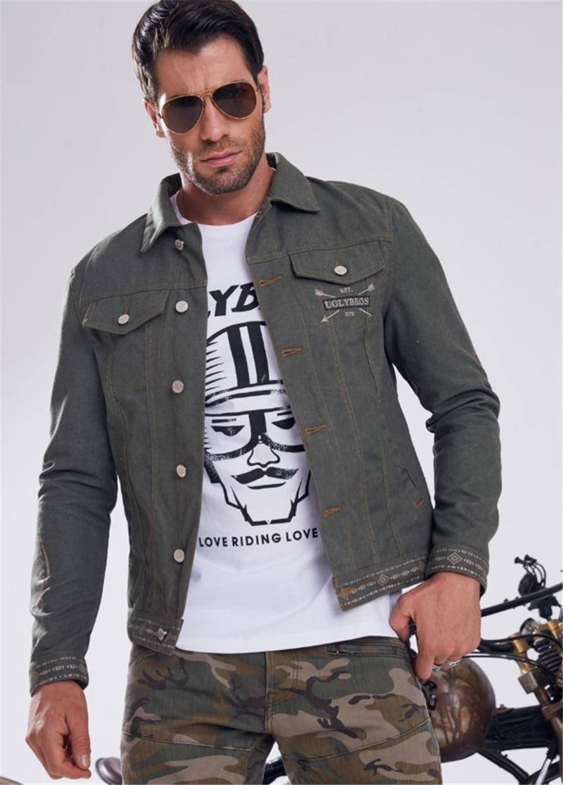uglyBROS Jacket Retro Vintage Harley Motorcycle Wear Men s Denim Jacket Jacket Racing Protective Clothing Motorcycle