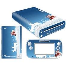 Transporte da gota livre adesivo Rígido Capa adesivo Da Pele para Nintendo Wii U Gamepad