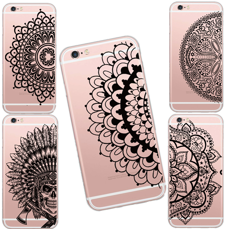 unique thailand style magic stramonium pattern design cases coverunique thailand style magic stramonium pattern design cases cover for iphone 5 5s 6 6s soft clear shock proof skin phone shell