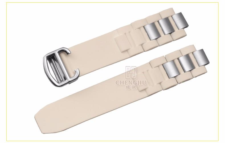 e64082971c9 20mm Assista Bracelete Cartier Para Pulseiras De Silicone Preto ...