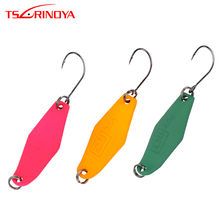TSURINOYA Fishing Lure Metal Spoon 2.5g Spinner Bait Spoon Hard Bait with Barbed Hook Isca Artificiais Para Pesca Fishing Tackle fishing bait fish lure hook twist spoon crankbaits spinner accessory tool tackle 20 12