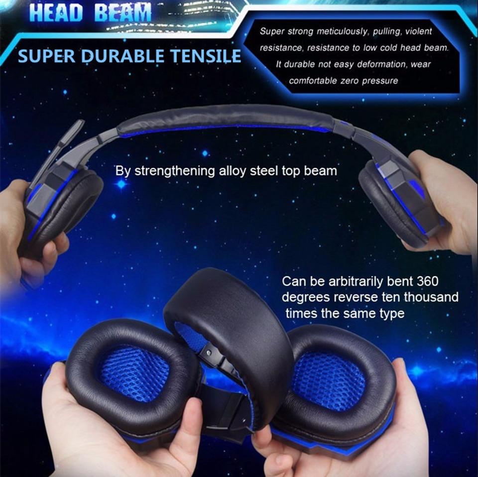 Teamyo Gaming Headset fül felett izzó fülhallgató fejpánt - Hordozható audió és videó - Fénykép 5