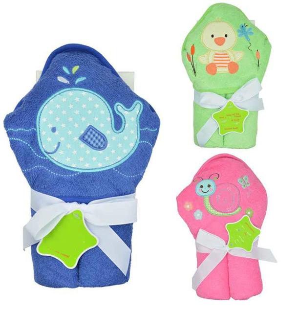 La alta calidad de exportación quarlity nuevo animal de la historieta del bebé con capucha toalla de baño albornoz bata de baño para los niños cabritos del bebé recién nacido