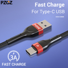 PZOZ Type c usb cable for Redmi note 7 K20 pro Fast Charge USB type fast charge samsung s10 S9 charger